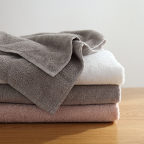 Lazy corner plain towels cotton adult men and women absorbent white towels a couple of soft large towels 65975