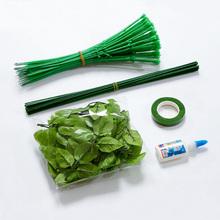 Лента лента роз бумажные цветы чулки чистая DIY ручной работы материал моделирование цветочные стержни зеленый пластиковый мешок цветочные стержни сын