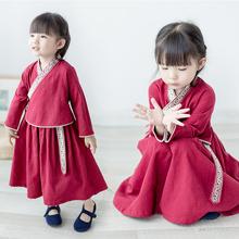 Девочки китайский одежда ребятишки осень девочки установите 2017 новая девушка сокровище китайский ветер отпуск платье костюм волна