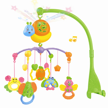 Новорожденный ребенок игрушка 0-3 месяцы головоломка прикроватный колокол девушка 6 месяцы мальчик кровать музыка вращение погремушки