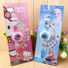 Ребенок мультики 20 инжир 3D проекция наручные часы детский сад маленький друг подарок награда статья день рождения подарок игрушка наручные часы