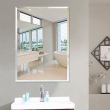 Ванная комната зеркало настенный паста стена перфорация косметическое зеркало ванная комната зеркало мойте руки между туалет ванная комната висячее зеркало соус зеркало