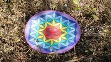 Новые товары жизнь цветок энергия символ каботажное судно цвет импульс модели колес / охрана окружающей среды PVC мягкий материал