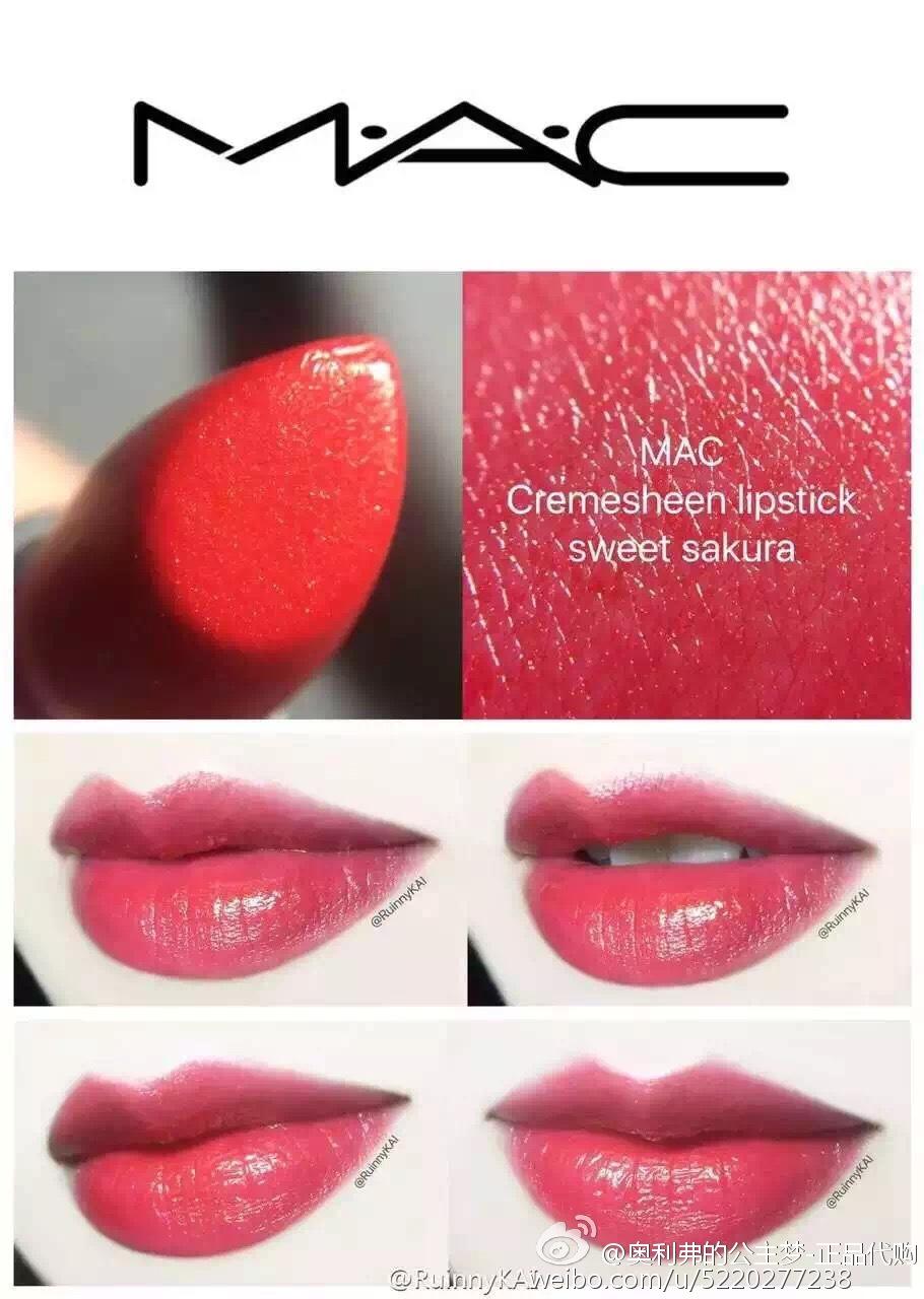 [USD 45.36] Spot MAC. delicious red lipstick mocha milk ...