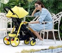 Ребенок тележки может сидеть лечь сложить шок легкий легко нести ребенок зонт автомобиль зимой и летом младенец четырехколесный тележки