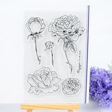 Прозрачный печать рука проводка печать scrapbook diy конечный продукт глава ластик глава цветы