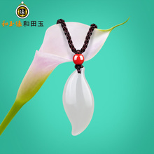Спокойный нефрит край уезд хотан нефрит ива кулон натуральный белый нефрит подвески новый женские модели аутентичные пособия почта черный пояс шнур