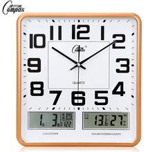 Мир пакистан провод электронный настенные часы стол гостиная спальня офис вешать стол немой календарь часы большой размер кварц колокол календарь