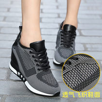 2018 spring and autumn new Single shoes Joker fly woven Korean version within the higher 7% per annum women's Shoes Casual sports wedges tide shoes