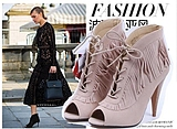 2017 women boots shoes  spring shoes tassels sandals 41 42