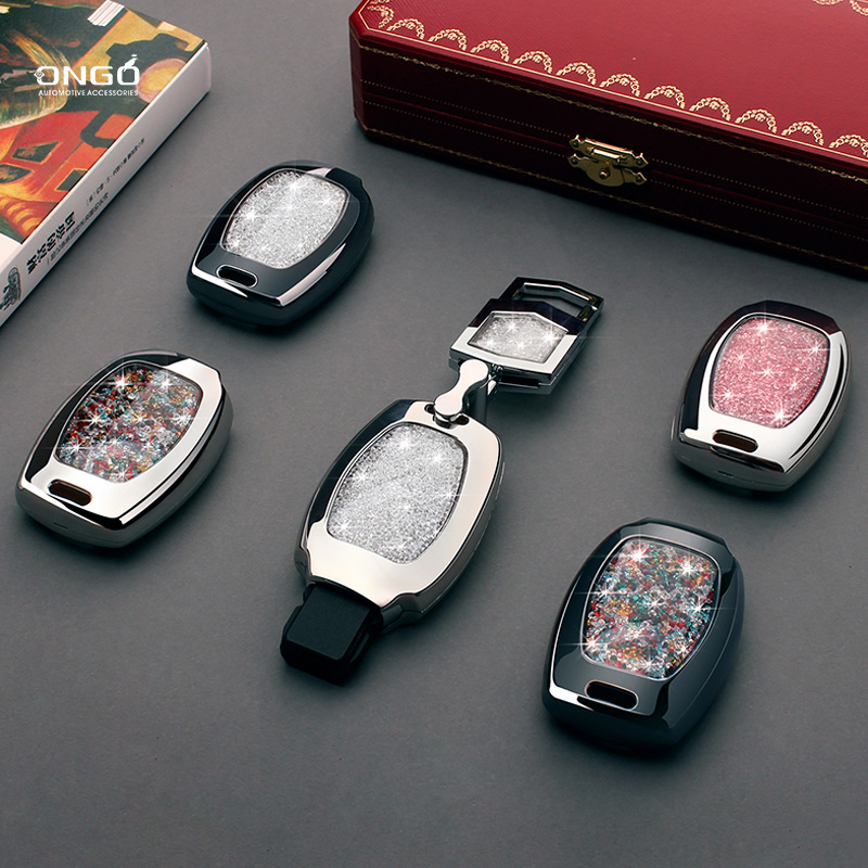 Dedicated Mercedes-Benz car key case C-class c200l/GLC260/GLA200 keychain E-class GLK key case female shell