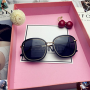 The 2017 New South Korean personality Polarized Sunglasses GM metal frame sunglasses retro round glasses face big tide