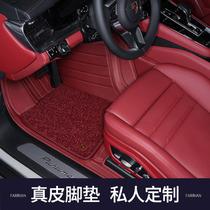 2021 Porsche Cayenne coupe Новый macan Palamera taycan полный объемный автомобиль кожаные коврики для пола