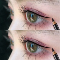 Kazilan eyeliner adhesive pen does not faint long waterproof pencil-type hard head thin head extremely thin lazy beginner beginner