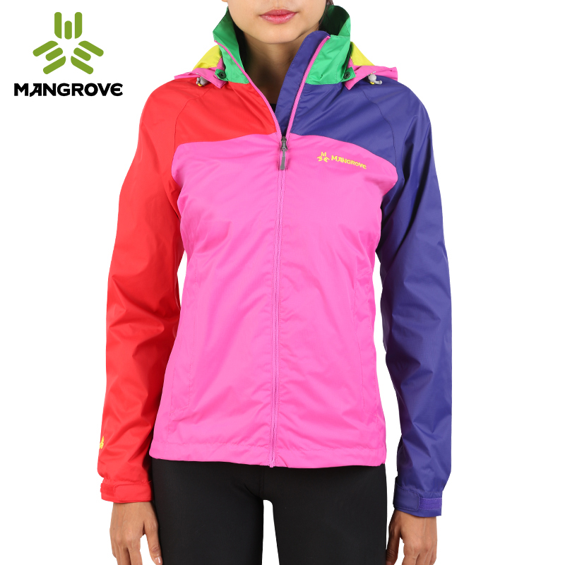 Mangofu outdoor jacket women's single layer waterproof breathable jacket thin section jacket women's mountaineering clothing women spring and autumn