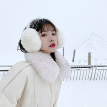Japanese warm earmuff winter female Korean version of the tide cold-proof ear cover ear bag anti-freeze stacked plush ear covers