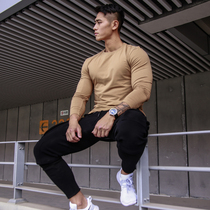 BVSN fitness sports quick-dry long sleeve training T-shirt outdoor casual repair tight crew neck top men autumn