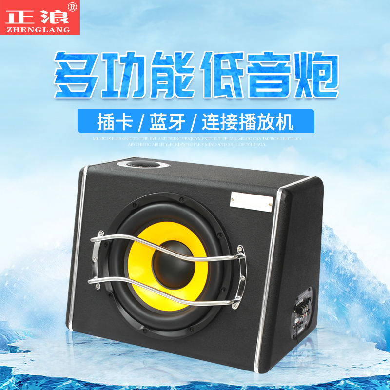 Modification of 12 V Sound 10 inch 24 V Heavy Bass Horn for Zhenglang 8 inch Trapezoidal Vehicle Active Subwoofer