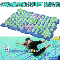 Run Male small bamboo shoots acupressure plate Korean pressure finger plate large Super-pain version of the foot massage pad small bamboo shoots toe plate