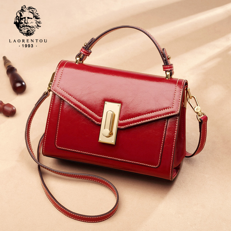 Old man head bag female 2018 new atmosphere tide Korean version of the handbag female personality explosion models fashion wild Messenger bag