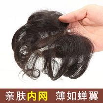 The top of the head repair piece female hair mask hair wig piece hair piece increase the amount of real hair hair top bangs invisible traceless extensions piece