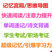 Memory training course Master training Course Memory Palace class Mind Mapping Learning Method Special training Camp