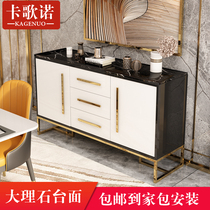 Marble sideboard modern minimalist home porch cabinet Nordic Light Luxury dining room living room multifunctional lockers