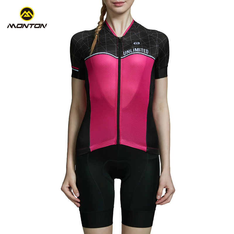 Monton Summer Short-sleeved Cycling Clothes, Lightweight and Air-breathable Women's Bicycle Equipped with Youluo