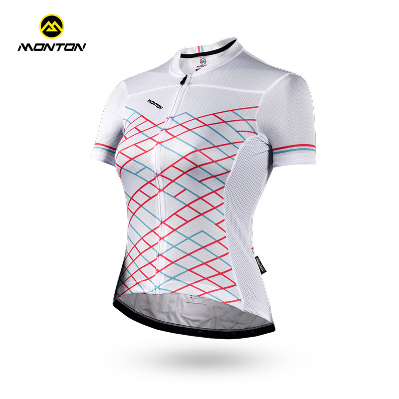 Monton Pulse Cycling Clothes Lady's Short Sleeve Top Breathing Comfortable Bicycle Riding Equipments Phantom Bamboo