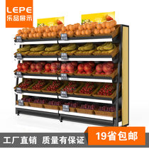 Music Convenience store Bakery bread rack fruit and vegetable shelf supermarket display shelf fruits and vegetables rack baking showcase Shenzhen