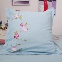 Foreign Trade original single embroidery export 200 combed cotton embroidered pillow 65*65cm