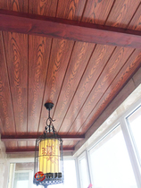 Keio Integrated ceiling American country idyllic kitchen balcony wooden striped buckle plate aluminum ceiling material