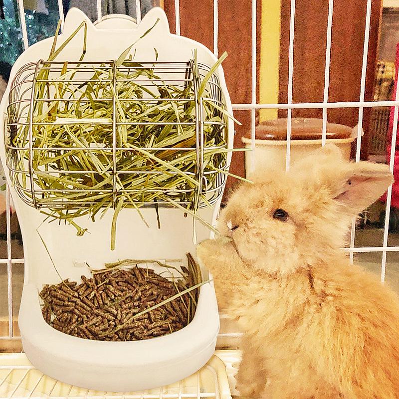 Lasg кролика трава стойки против отходов анти-pickpocketing трава внешний травяной шар 2-в-1 едят траву артефакт красный горшок пищи