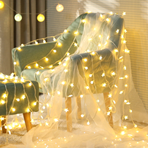 led stars lights fairy lights flashing lights string lights starry maiden atrial bedroom romantic arranged web red decor
