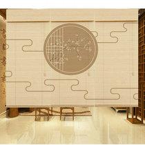 Пользовательские печатные тени горной воды ретро декоративные рулон занавес гостиной японской чайной комнате перегородки китайский бамбук занавес занавес