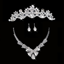 Honey Marriage 2014 new rhinestone crown Necklace Earrings Set popularity package dress Crown Necklace