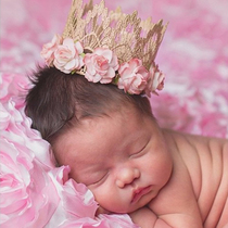 Lovecrush spot Crown lace baby girls hair accessories