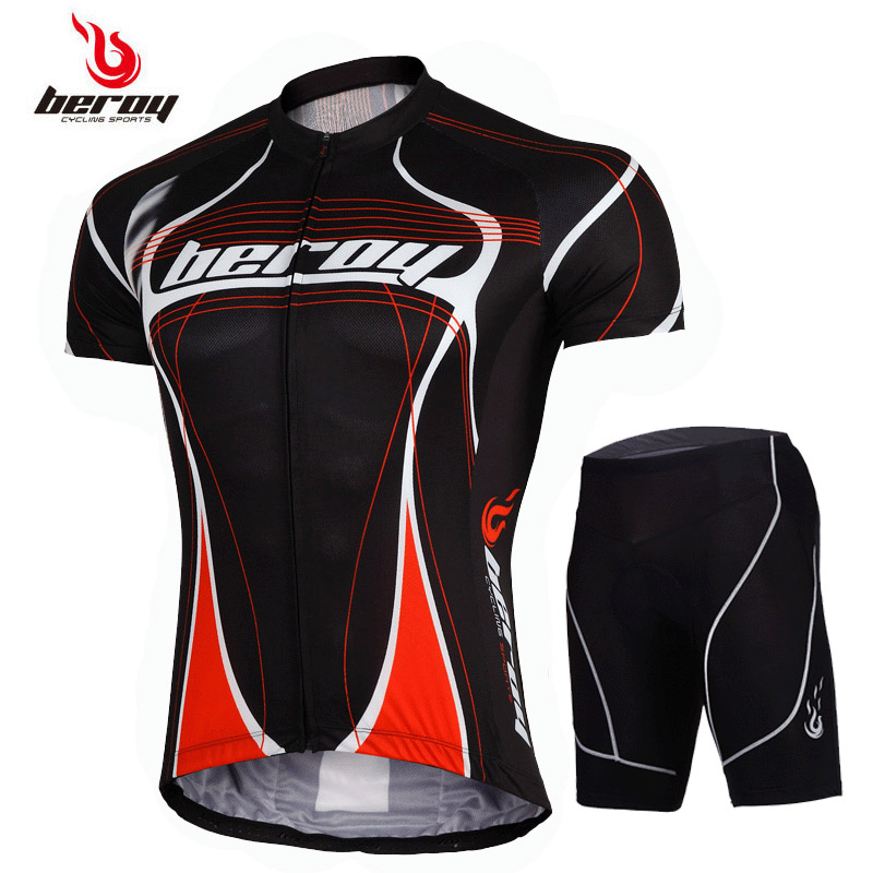 Short-sleeved cycling suit Men's summer bicycle clothes Permeable speed dry dynamic bicycle clothes Mountain bicycle clothing