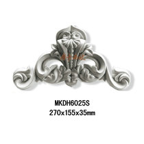 Pu door head flower background wall European carving decorations Wall smallpox corner flower line