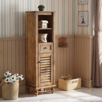 Aying bathroom American Oak solid wood cabinet living room cabinet bathroom side locker toilet toilet side cabinet combination