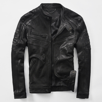 Youth mens leather sheep leather fashion thin leather jacket