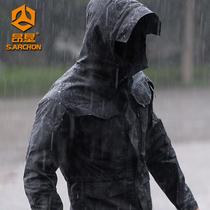 谍影战术外套男防水军版M65风衣中长款秋冬军迷机能服户外冲锋衣