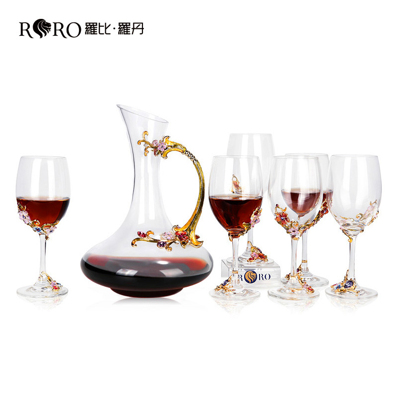 Robbie Rhodan Red Wine Cup Alcoholic Set European Creative Enamel Coloured Tablet Alcoholic Ware Home Customized Gift