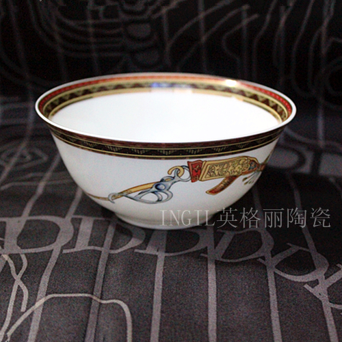 Rice bowl, tableware, bone china, tableware set, high-grade china, dinner bowl, household ceramic bowl, creative bowl, Chinese style