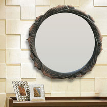 Chinese bathroom mirror round wall hanging toilet bedroom makeup wash table sticker Wall Makeup Creative Art decoration