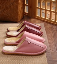 Home Care Home leather slippers leather slippers comfortable and comfortable