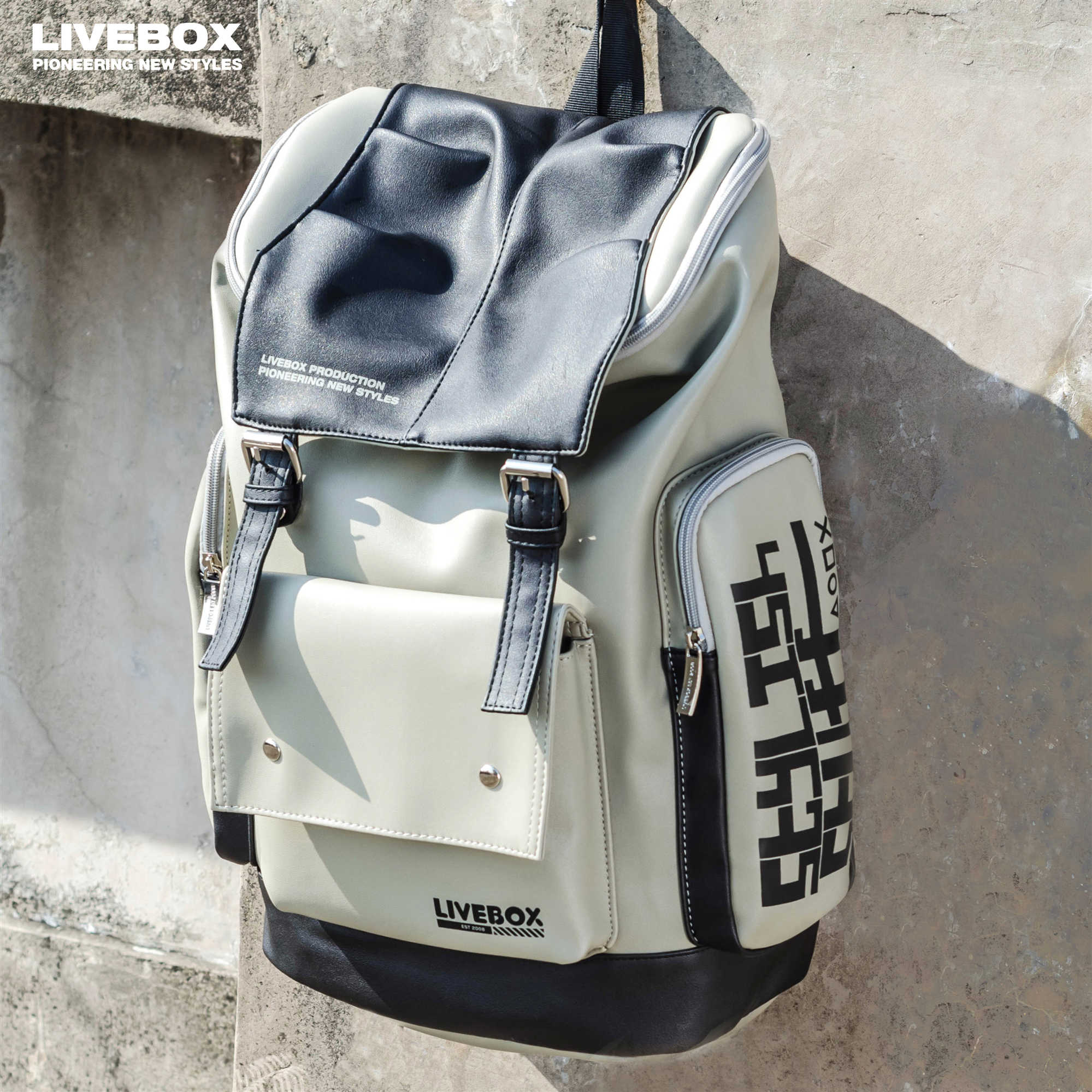 LIVEBOX Trendy Brand Shoulder Bag for Male College Students