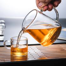 Чай утечка набор стеклянный морской фарватер чашки кунг-фу чай набор мужской чашки чая жаростойкие аксессуары чай машина утолщена