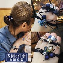 髮-ringed womens minimalist Korean version of the cute little fresh leather cover net red ins 髮-ring oak rubber band髮 rope 髮 headpiece