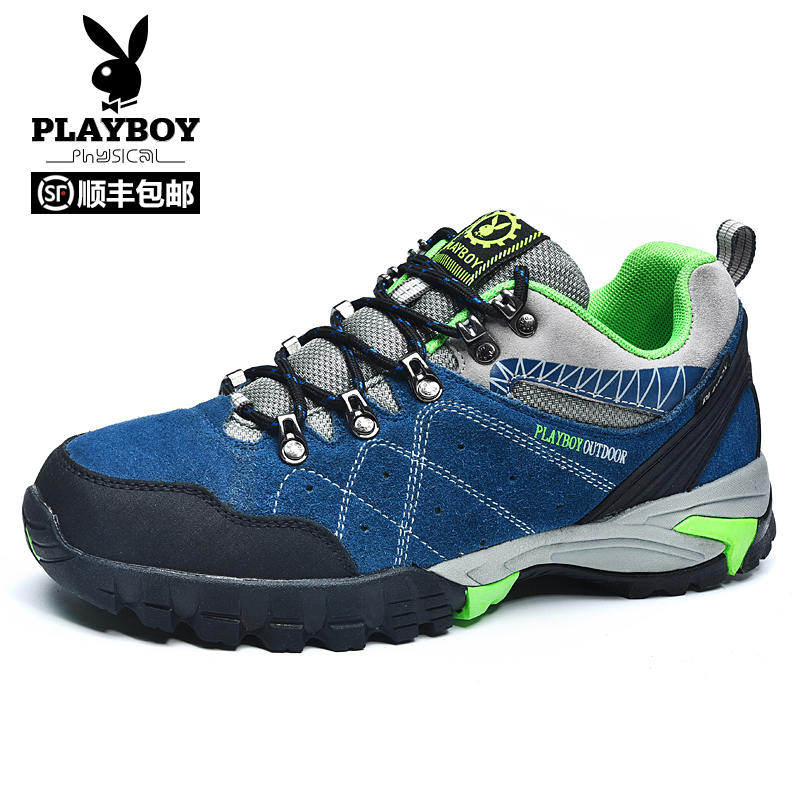 Playboy spring outdoor men's shoes hiking shoes low to help outdoor shoes hiking shoes non-slip wear-resistant shoes